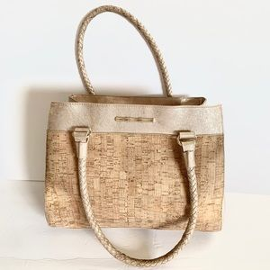 Elaine Turner Women handbag cork + gold metallic